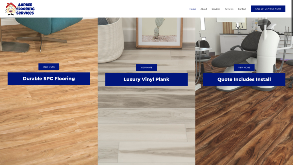 Aardee Flooring Google My Business, Google Ads