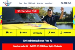 Anchor Air heating and air conditioning Foley Alabama