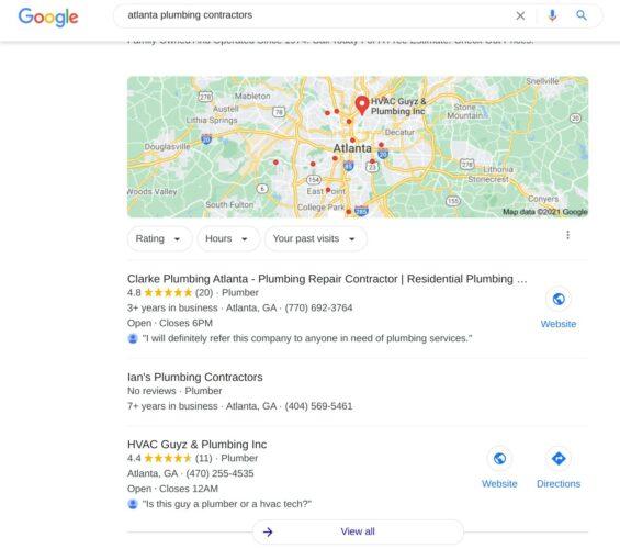 Plumbing Contractor Maps Listing