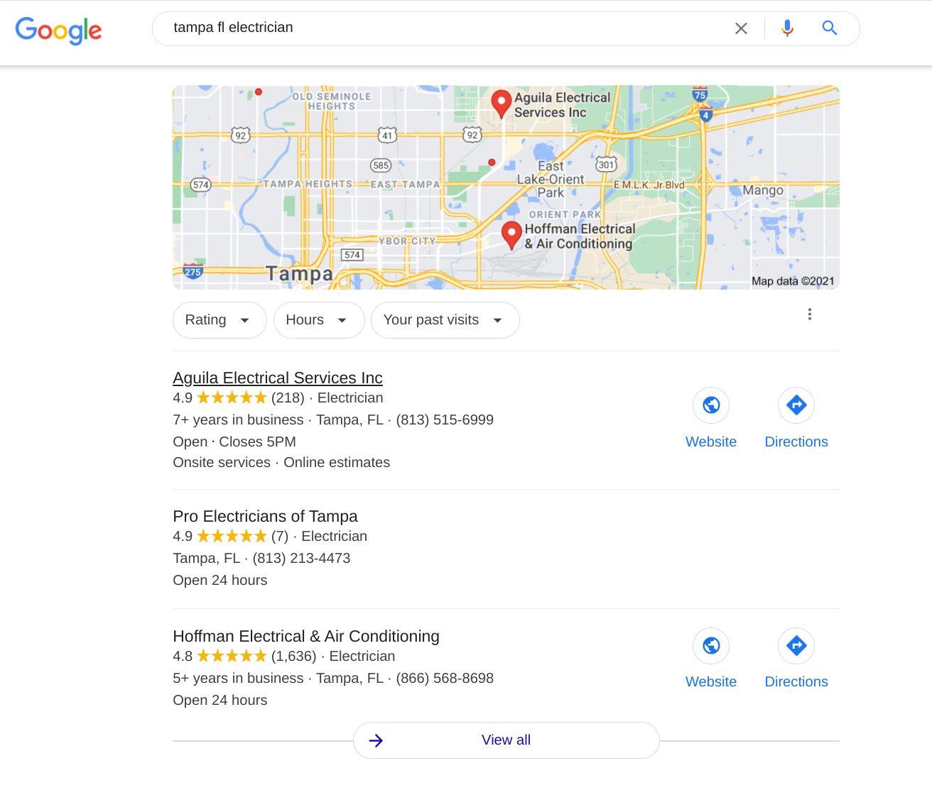 Electrical Contractor Google Maps Listing