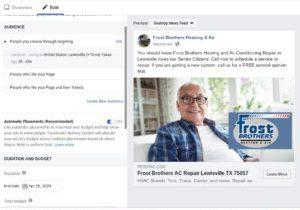 Facebook Branding Heating and Air Contractors